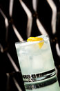 Vodka sour cocktail with sugar syrup lemon juice and egg white Royalty Free Stock Image