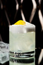 Vodka sour cocktail with sugar syrup lemon juice and egg white Stock Images