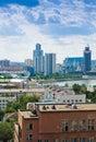 Vogelperspektive von jekaterinburg am juni Lizenzfreie Stockfotos