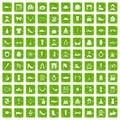 100 vogue icons set grunge green
