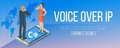 Voice over internet protocol banner