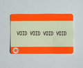 Void ticket london uk august blank train of the national railways Royalty Free Stock Image