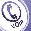 Voip button means voice over internet protocol meaning or broadband telephony Stock Photos