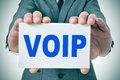VOIP, Voice Over Internet Protocol Royalty Free Stock Photo