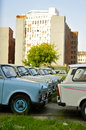 Voitures de trabant garées à berlin Photo stock
