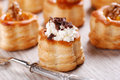 Vol au vent with shaved chocolate Stock Image