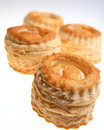Vol au vents puff pastry cases Stock Photography