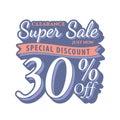 Vol. 2 Super Sale 30 percent heading design vintage style for b