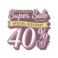 Vol. 2 Super Sale 40 percent heading design vintage style for b