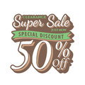 Vol. 2 Super Sale 50 percent heading design vintage style for b