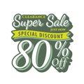 Vol. 2 Super Sale 80 percent heading design vintage style for b