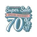 Vol. 2 Super Sale 70 percent heading design vintage style for b