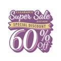 Vol. 2 Super Sale 60 percent heading design vintage style for b