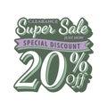 Vol. 2 Super Sale 20 percent heading design vintage style for b