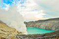 Volcan de kawah ijen Photo stock