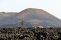 Volcanao volcano on the island of lanzarote canary islands Royalty Free Stock Image