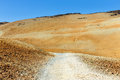 Volcanic bombs on montana blanca teide national park tenerife canary islands spain Stock Image