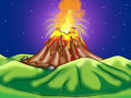 Volcanic Eruption Digital Illustration