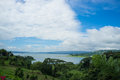 The volcanic lagoon of arenal costa rica Royalty Free Stock Photography