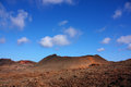 Volcanic landscape in canary islands spain Royalty Free Stock Photo
