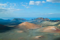 Volcanic landscape from Lanzarote island, Spain. Royalty Free Stock Photography