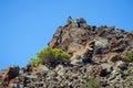 Volcanic mountain close up of a at methana peninsula greece Royalty Free Stock Photography