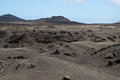 Volcanic mountains and craters on Lanzarote Stock Photo