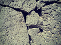 Volcanic rock wall close up texture of taken on mobile phone camera Royalty Free Stock Image