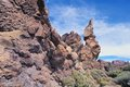 Volcanic rocks rocky cliff of teide national park tenerife canary islands Stock Images
