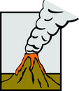 Volcano eruption vector illustration Royalty Free Stock Images