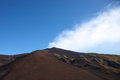 Volcano etna view of the early in the morning with a blue sky Stock Image