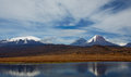 Volcano of kamchatka and a pretty clouds Stock Photo
