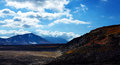 Volcano of kamchatka and a pretty clouds Royalty Free Stock Photos