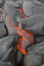 Volcano lava Photos stock