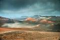 Volcano and lava desert