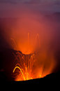 Volcano lava explosion