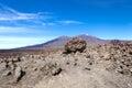 Volcano teide tenerife island spain med lava vaggar på förgrund Royaltyfri Bild