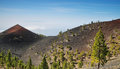 Volcanoes route in la palma island spain Stock Photo