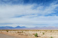 Volcanos on the horizont in Atacama desert, Chile Royalty Free Stock Photo