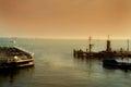 Volendam harbor Royalty Free Stock Photo