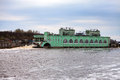 Volkhov hydroelectric power station hydro power station on river volkhov russia landscape in a sunny day Stock Photography