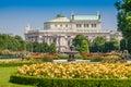 Volksgarten public park with Burgtheater, Vienna, Austria Royalty Free Stock Photo