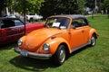 Volkswagen Beetle in Antique Car Show Stock Photo