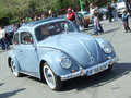 Volkswagen beetle car at spring retro parade in bucharest romania Stock Photography