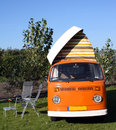 Volkswagen camper van an old Royalty Free Stock Photos