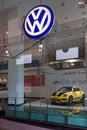Volkswagen dealership on friedrichstrasse berlin august is a german multinational automotive manufacturing company Royalty Free Stock Images