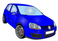 Volkswagen golf 5 Stock Image