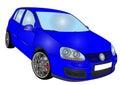 Volkswagen golf 5 Royalty Free Stock Photo