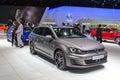 Volkswagen golf gtd variant geneva switzerland march presented on the th international geneva motor show Royalty Free Stock Photo