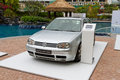 Volkswagen golf iv model in media event Royalty Free Stock Image